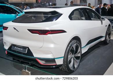 Frankfurt-September 20:  Jaguar i-Pace concept at the Frankfurt International Motor Show on September 20, 2017 in Frankfurt