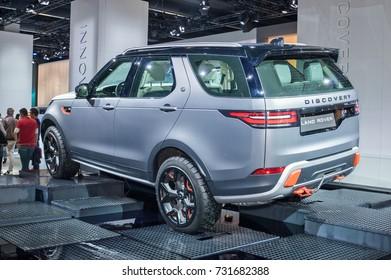 Frankfurt-September 20:  Land Rover Discovery at the Frankfurt International Motor Show on September 20, 2017 in Frankfurt