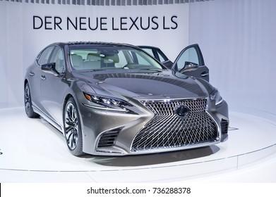 Frankfurt-September 20:  Lexus LS 500 at the Frankfurt International Motor Show on September 20, 2017 in Frankfurt