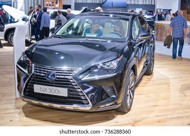 Frankfurt-September 20:  Lexus NX 300h at the Frankfurt International Motor Show on September 20, 2017 in Frankfurt