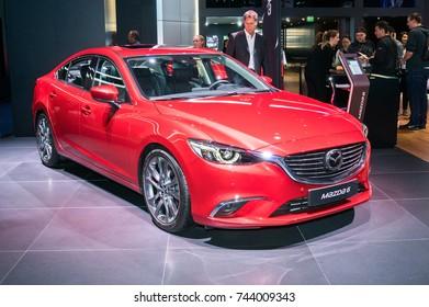 Frankfurt-September 20:  Mazda 6 at the Frankfurt International Motor Show on September 20, 2017 in Frankfurt