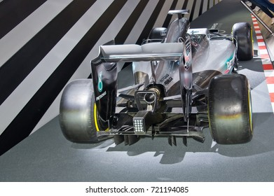 Frankfurt-September 20: Mercedes-AMG F1 W08 EQ Power+  at the Frankfurt International Motor Show on September 20, 2017 in Frankfurt