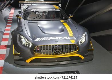 Frankfurt-September 20: Mercedes-AMG GT3  at the Frankfurt International Motor Show on September 20, 2017 in Frankfurt