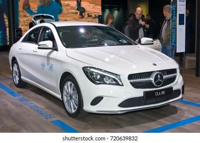 Frankfurt-September 20: Mercedes-Benz CLA 180  at the Frankfurt International Motor Show on September 20, 2017 in Frankfurt