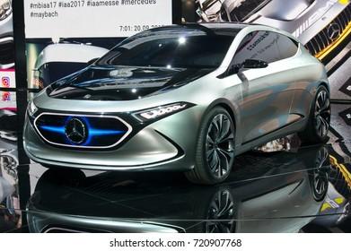 Frankfurt-September 20: Mercedes-Benz Concept EQA  at the Frankfurt International Motor Show on September 20, 2017 in Frankfurt