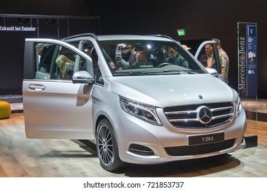 Frankfurt-September 20: Mercedes-Benz V 250 d  at the Frankfurt International Motor Show on September 20, 2017 in Frankfurt