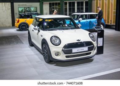 Frankfurt-September 20:  Mini Cooper 3-Door  at the Frankfurt International Motor Show on September 20, 2017 in Frankfurt