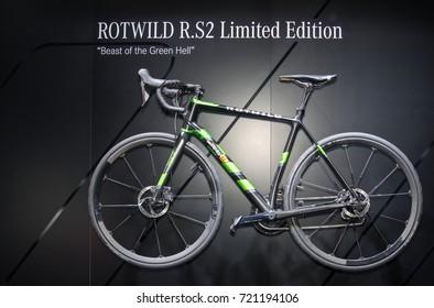 Frankfurt-September 20: Rotwild R.S2 Limited Edition bicycle  at the Frankfurt International Motor Show on September 20, 2017 in Frankfurt