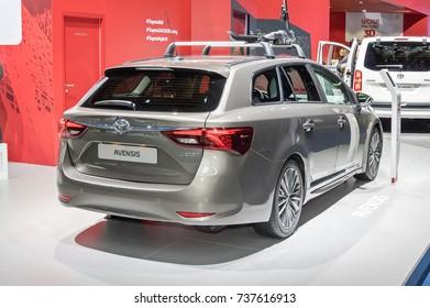 Frankfurt-September 20:  Toyota Avensis  at the Frankfurt International Motor Show on September 20, 2017 in Frankfurt