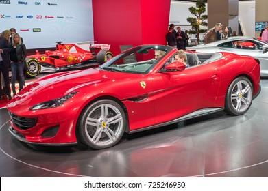 Frankfurt-September 20: world premiere of Ferrari Portofino at the Frankfurt International Motor Show on September 20, 2017 in Frankfurt