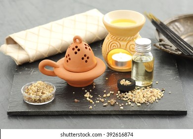 Frankincense, aromatherapy chimney and censer