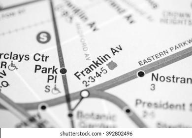 Franklin Av. Lexington Av/Pelham Express Line. NYC. USA