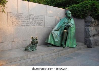 Franklin D. Roosevelt Memorial in Washington, DC, USA