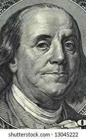 Franklin portrait from a twenty dollar banknote