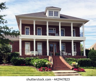 FRANKLIN, TN-JUNE 24, 2016:  Luxury home in an upscale subdivision near Nashville, Tennessee.