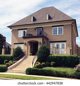 FRANKLIN, TN-JUNE 24, 2016:  Luxury French architectural style inspired home in a luxury subdivision.