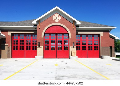 FRANKLIN, TN-JUNE 29, 2016:  New firehouse with retro architecture in Franklin, Tennessee.