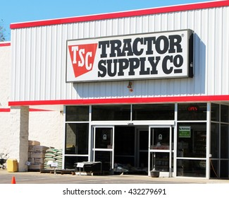FRANKLIN, TN-MAY 30, 2016:  Entrance to a Tractor Supply Company retail outlet.  Tractor Supply supplies most everything the small farmer needs to keep the farm running.