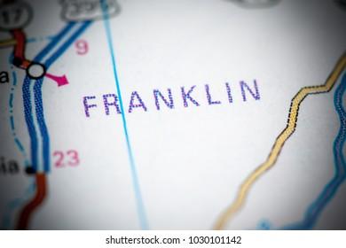 Franklin. Washington State on a map.