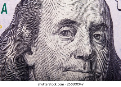 Franklin's eyes on a dollar bill