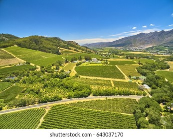 Franschoek winelands and mountain countryside South Africa