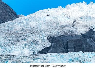 Franz Josef Glacier, Located in Westland Tai Poutini National Park on the West Coast of New Zealand.
