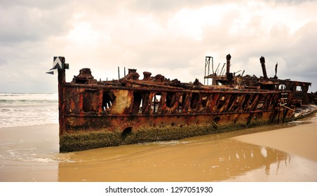 Fraser Island's Maheno Shipwreck. The SS Maheno was being towed from Melbourne in 1935 when it was caught in a strong cyclone. On 9 July 1935 she drifted ashore and was beached on Fraser Island.