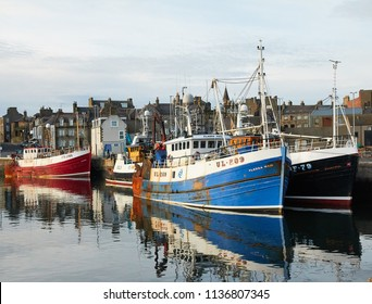 Fraserburgh, Aberdeenshire, Scotland.October, 1017. Fishing boats.