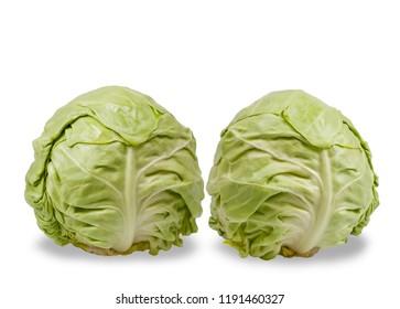 Frash Cabbages isolated on white background
