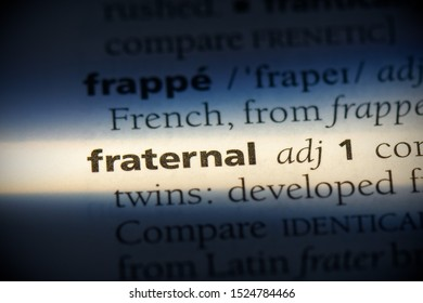 fraternal word in a dictionary. fraternal concept, definition.