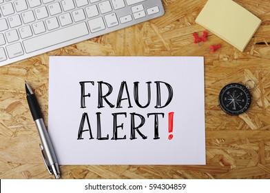 """Fraud Alert"" Word on Office Workplace"