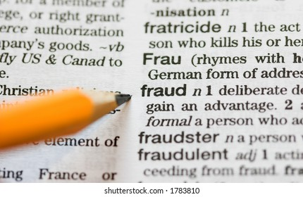 Fraud Definition Pointed Out By Pencil