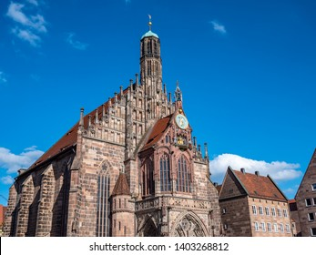 """""""Frauenkirche"""" in the old town of Nuremberg"""