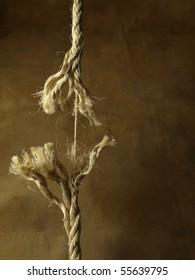 Frayed rope breaking