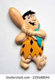 Fred Flintstone Figure At Amsterdam The Netherlands 2019