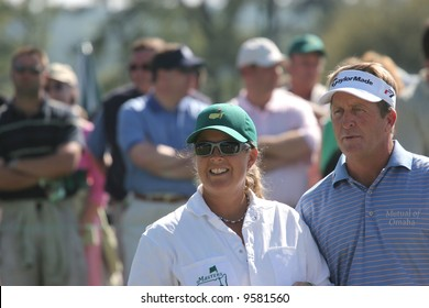Fred Funk and Fanny Sunesson at Augusta Masters of golf 2006, Georgia