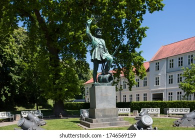 Fredericia, Denmark. May 29, 2020. The Brave Soldier is a statue by H. W. Bissen of the Danish soldier after a victory. Erected in 1858 to commemorate the victory of Fredericia on 6th of July 1849.