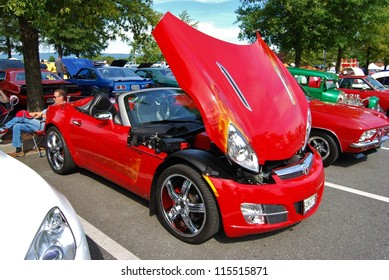 FREDERICK, MD   SEPTEMBER 16: A 2011 Saturn Sky Convertible At A Car Show