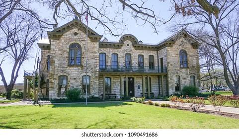 FREDERICKSBURG, TEXAS; MARCH 7, 2018: The historical Fredricksburg Memorial Library