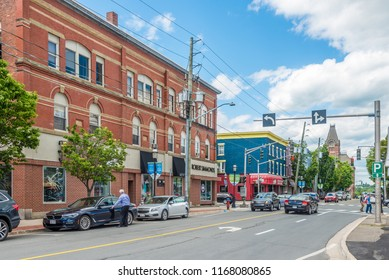 FREDERICTON, CANADA - JUNE 20,2018 - In the streets of Fredericton. Fredericton is the capital of the Canadian province of New Brunswick.
