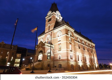 Fredericton City Hall at sunset. Fredericton, New Brunswick, Canada