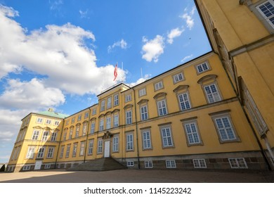 Frederiksberg Palace (Frederiksberg Slot), Copenhagen, Denmark - 24 Jun 2018: It is a Baroque residence adjacent to the Copenhagen Zoo.