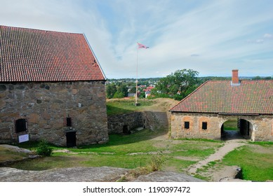 Fredrikstad, Norway - August 19, 2018 - Kongsten fort in Fredrikstad fortress town in Norway
