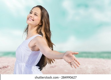 Free, arms, beach.