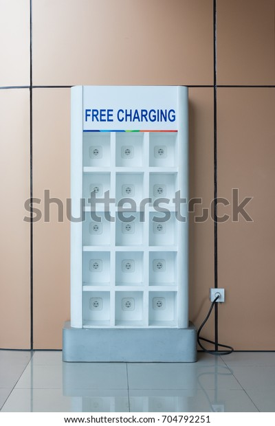 Free Battery Charging Station Airport Stock Image Download Now