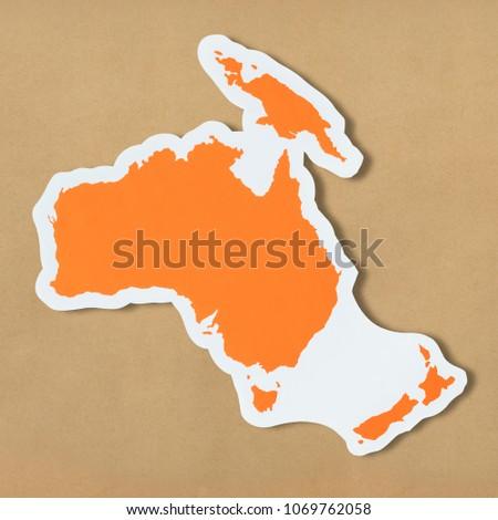 Free Blank Map Australia Oceania Stock Photo (Edit Now) 1069762058 ...