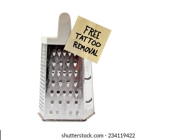 Free cheese grater tattoo remover for the brave
