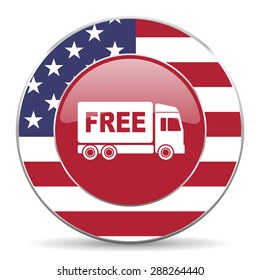 free delivery american icon original modern design for web and mobile app on white background