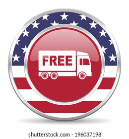 free delivery american icon, usa flag
