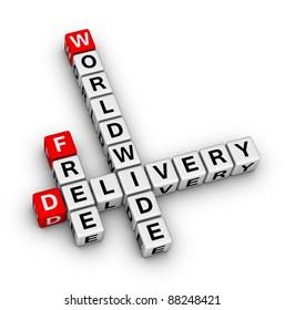 free delivery label for online store